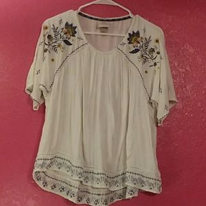 Knox Rose women's size M 3/4 sleeve blouse